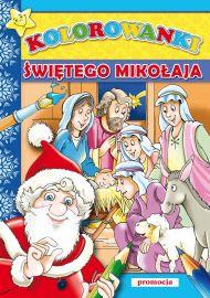 Kolorowanki Świętego Mikołaja - okładka