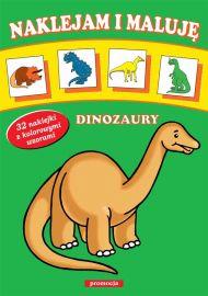 Naklejam i maluję - Dinozaury - okładka