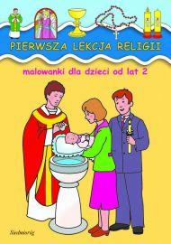 Pierwsza lekcja religii - malowanka - okładka