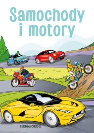 Samochody i motory. Kolorowanka edukacyjna