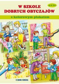 W szkole dobrych obyczajów. Książka z kolorowym plakatem