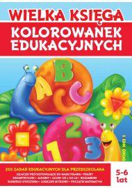 Wielka księga kolorowanek edukacyjnych