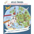 Atlas świata. Megakolorowanka edukacyjna z naklejkami
